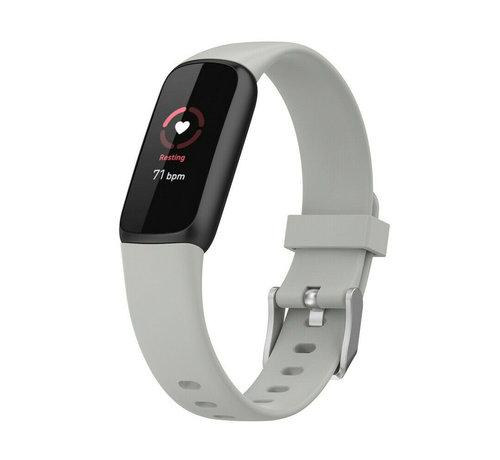 Strap-it® Strap-it® Fitbit Luxe siliconen bandje (grijs)