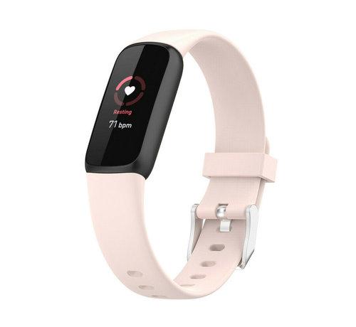 Strap-it® Strap-it® Fitbit Luxe siliconen bandje (lichtroze)