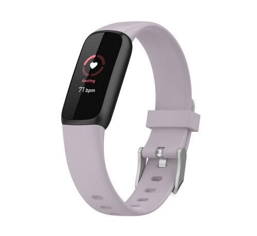 Strap-it® Strap-it® Fitbit Luxe siliconen bandje (lavendel)