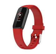 Strap-it® Fitbit Luxe siliconen bandje (rood)