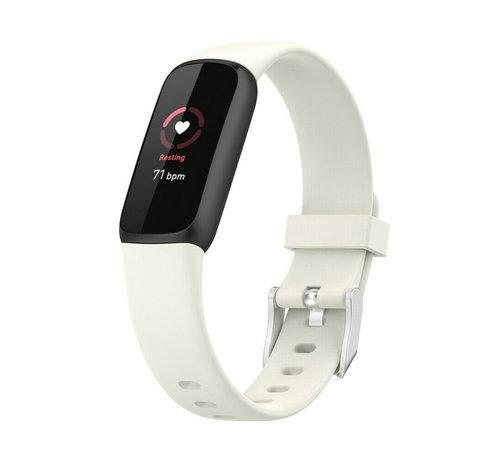 Strap-it® Strap-it® Fitbit Luxe siliconen bandje (zand wit)