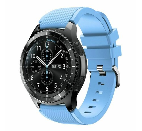 Strap-it® Strap-it® Samsung Galaxy Watch 46mm siliconen bandje (zand blauw)