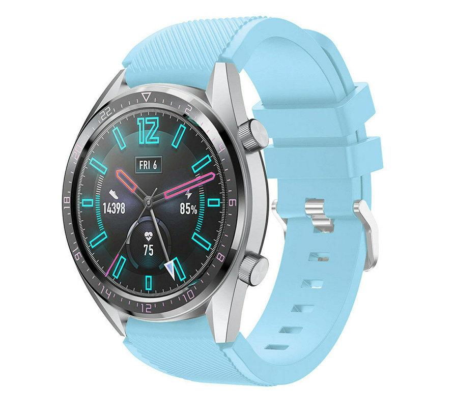 Strap-it® Huawei Watch GT siliconen bandje (zandblauw)