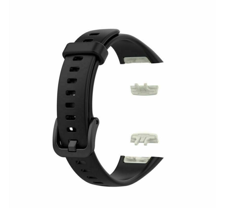 Strap-it® Huawei Band 6 siliconen bandje (zwart)