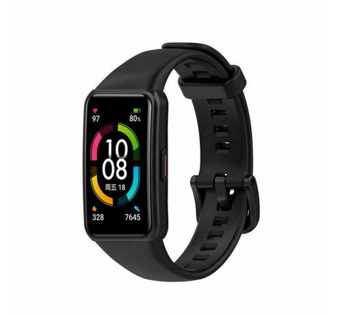 Strap-it® Strap-it® Huawei Band 6 siliconen bandje (zwart)