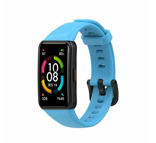 Strap-it® Strap-it® Huawei Band 6 siliconen bandje (lichtblauw)