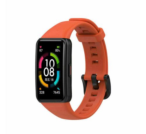 Strap-it® Strap-it® Huawei Band 6 siliconen bandje (donker oranje)