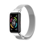 Strap-it® Huawei Band 6 Milanese band (zilver)