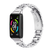 Strap-it® Huawei Band 6 stalen band (zilver)
