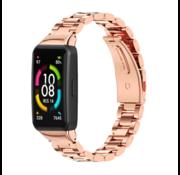 Strap-it® Huawei Band 6 stalen band (rosé goud)