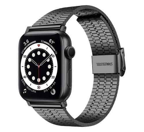 Strap-it® Strap-it® Apple Watch roestvrij stalen band (zwart)