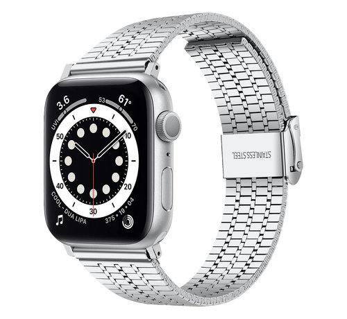 Strap-it® Strap-it® Apple Watch roestvrij stalen band (zilver)