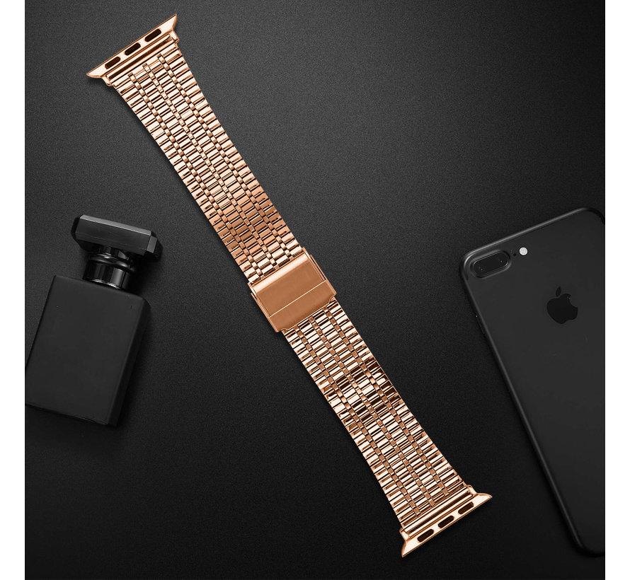 Strap-it® Apple Watch roestvrij stalen band (rosé goud)