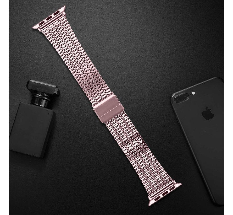 Strap-it® Apple Watch roestvrij stalen band (rosé pink)