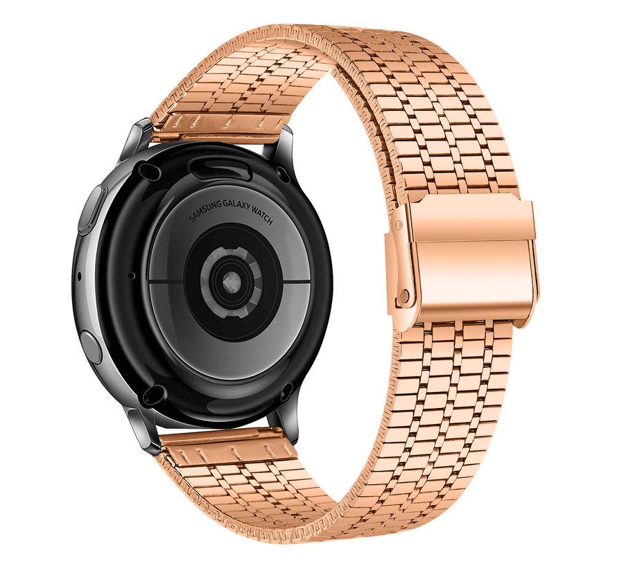 Strap-it® Samsung Galaxy Watch Active roestvrij stalen band (rosé goud)