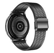 Strap-it® Samsung Galaxy Watch 42mm roestvrij stalen band (zwart)