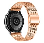 Strap-it® Samsung Galaxy Watch 42mm roestvrij stalen band (rosé goud)