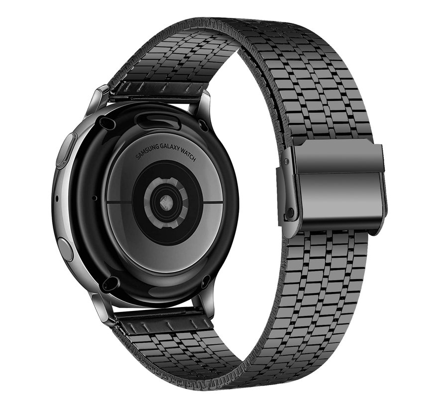 Strap-it® Samsung Galaxy Watch 3 41mm roestvrij stalen band (zwart)