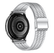 Strap-it® Samsung Galaxy Watch 46mm luxe stalen band (zilver)