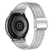 Strap-it® Samsung Galaxy Watch 3 45mm roestvrij stalen band (zilver)