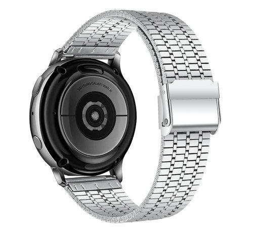 Strap-it® Strap-it® Samsung Galaxy Watch 3 45mm roestvrij stalen band (zilver)