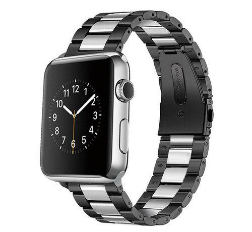 Strap-it® Strap-it® Apple Watch stalen band (zwart/zilver)