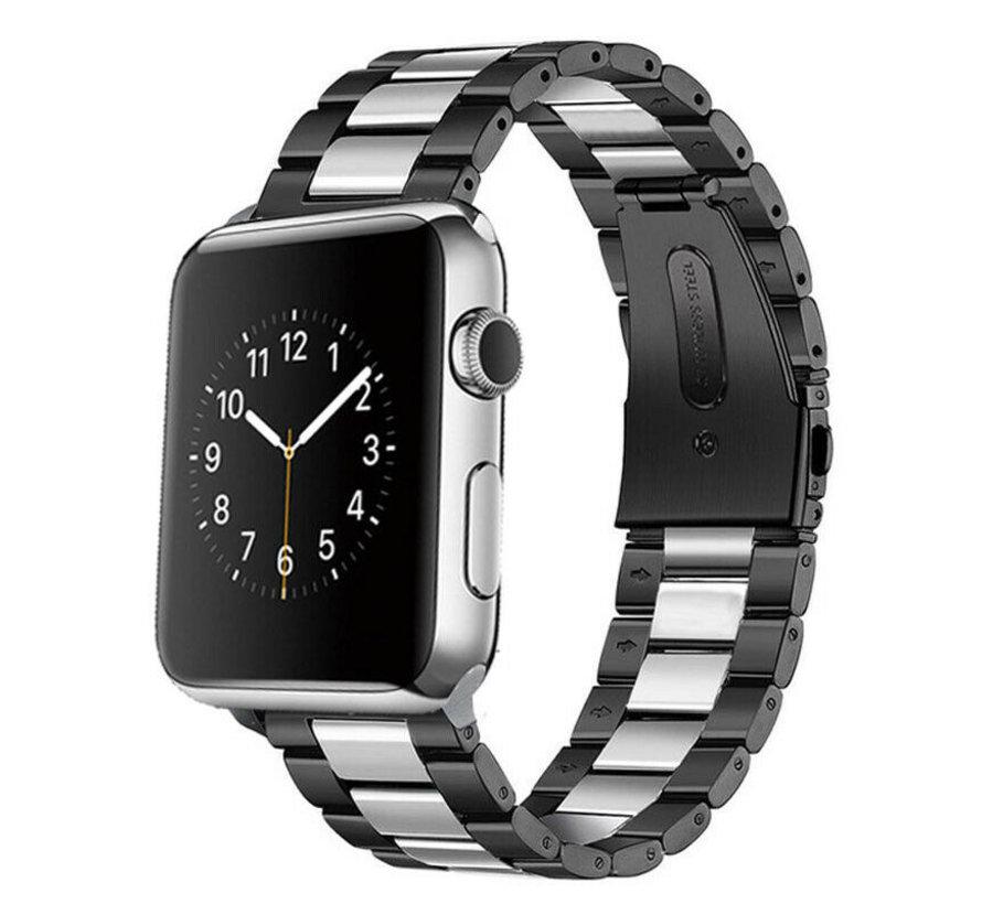 Strap-it® Apple Watch stalen band (zwart/zilver)