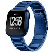 Strap-it® Fitbit Versa stalen bandje (blauw)