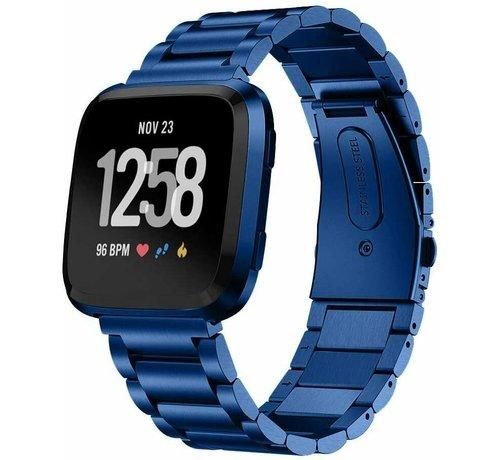 Strap-it® Strap-it® Fitbit Versa stalen bandje (blauw)