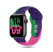 Strap-it® Apple Watch triple sport band (paars-groen-roze)