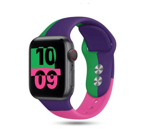 Strap-it® Strap-it® Apple Watch triple sport band (paars-groen-roze)