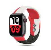 Strap-it® Apple Watch triple sport band (rood-wit-zwart)