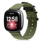Strap-it® Fitbit Versa 3 nylon gesp band (groen)