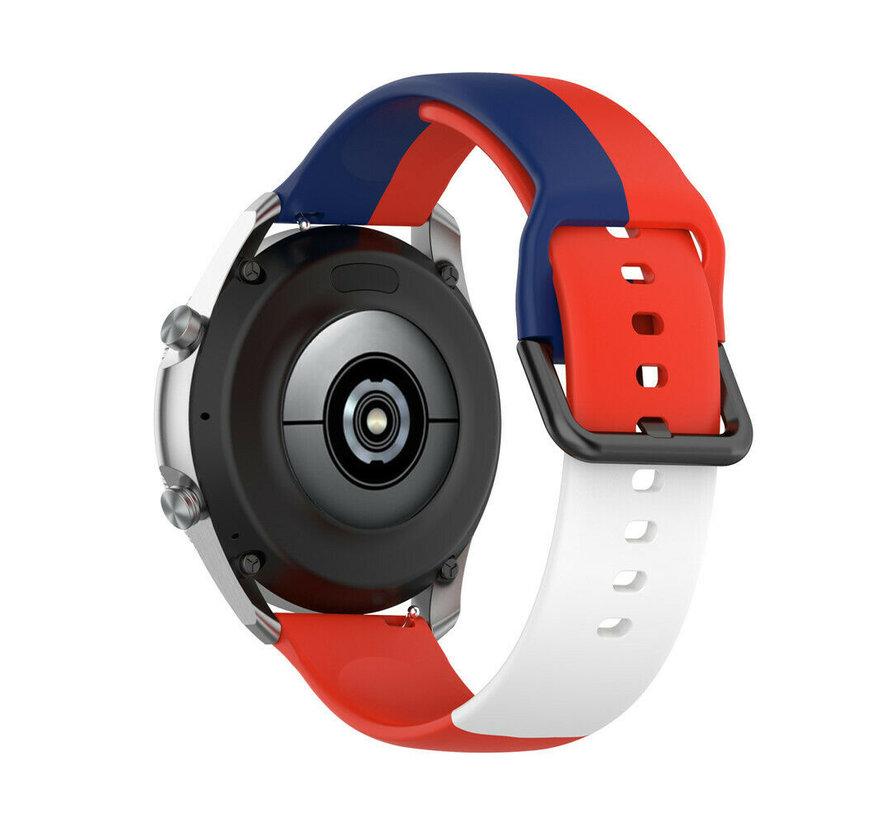 Strap-it® Samsung Galaxy Watch 42mm triple sport band (rood-wit-blauw)