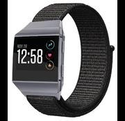 Strap-it® Fitbit Ionic nylon bandje (zwart)