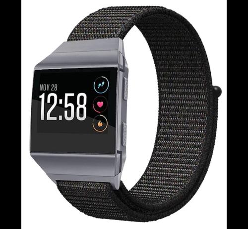 Strap-it® Strap-it® Fitbit Ionic nylon bandje (zwart)
