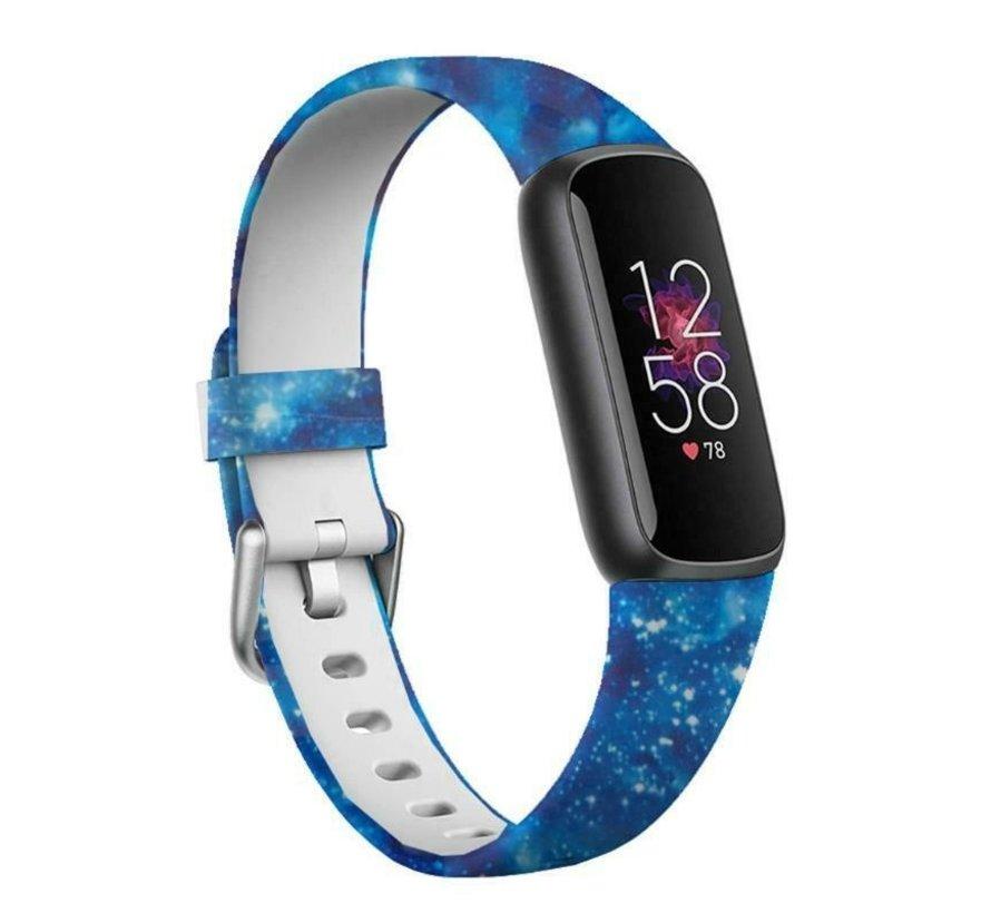 Strap-it® Blue Sky Fitbit Luxe siliconen bandje