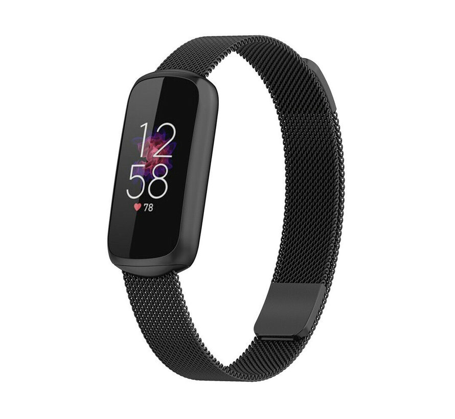 Strap-it® Fitbit Luxe Milanese band (zwart)