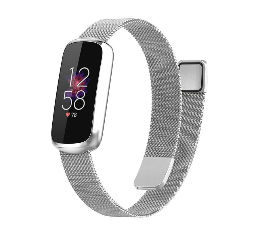 Strap-it® Fitbit Luxe Milanese band (zilver)