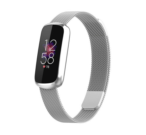 Strap-it® Strap-it® Fitbit Luxe Milanese band (zilver)