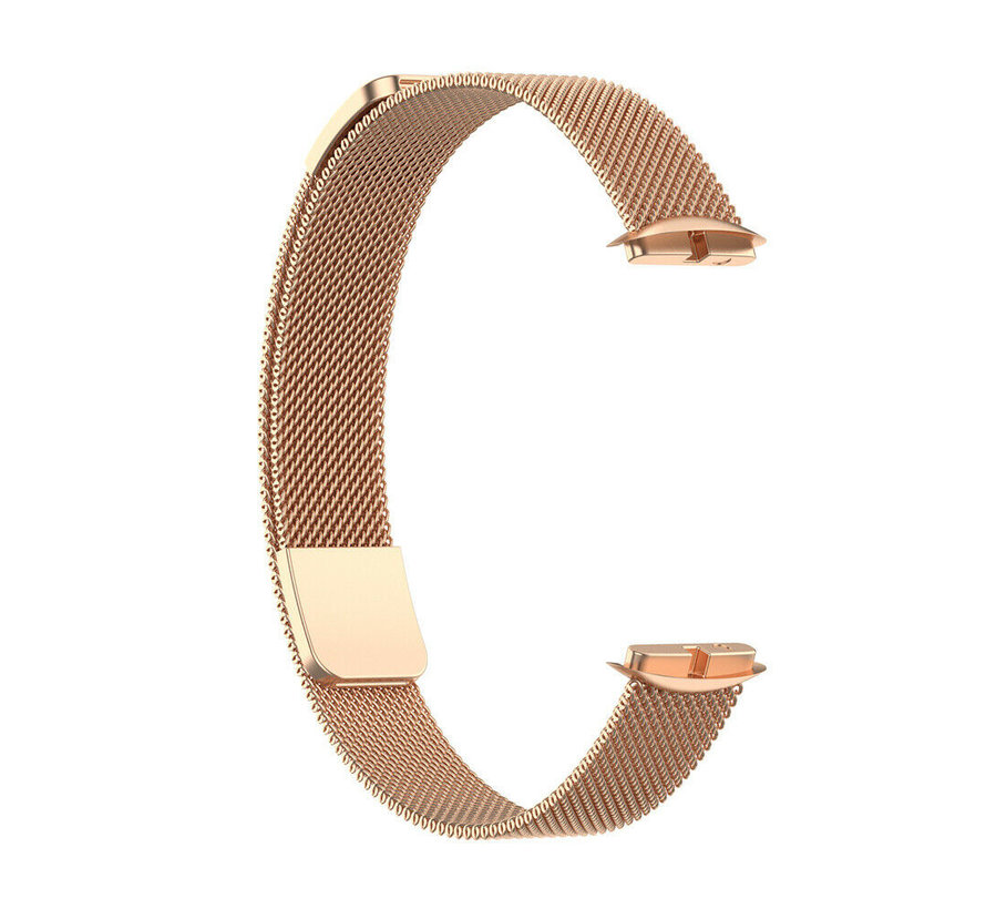 Strap-it® Fitbit Luxe Milanese band (rosé goud)