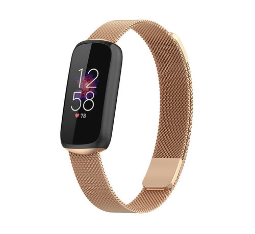 Strap-it® Strap-it® Fitbit Luxe Milanese band (rosé goud)