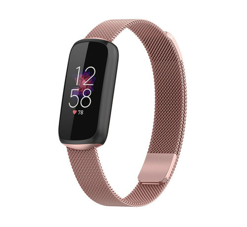 Strap-it® Strap-it® Fitbit Luxe Milanese band (rosé pink)