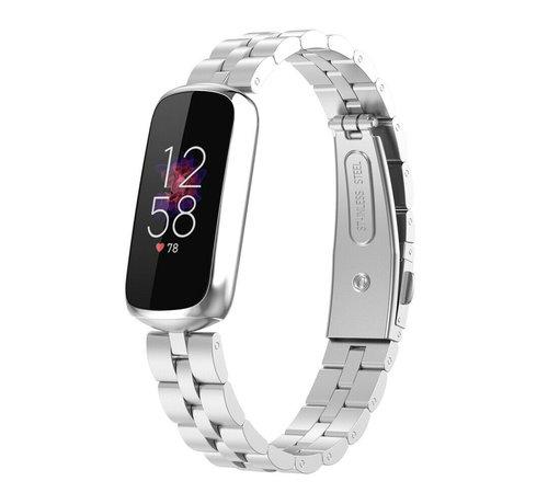 Strap-it® Strap-it® Fitbit Luxe stalen band (zilver)