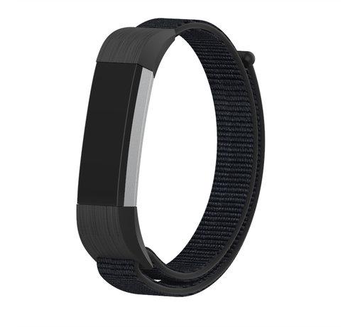 Strap-it® Strap-it® Fitbit Alta / Alta HR nylon bandje (zwart)