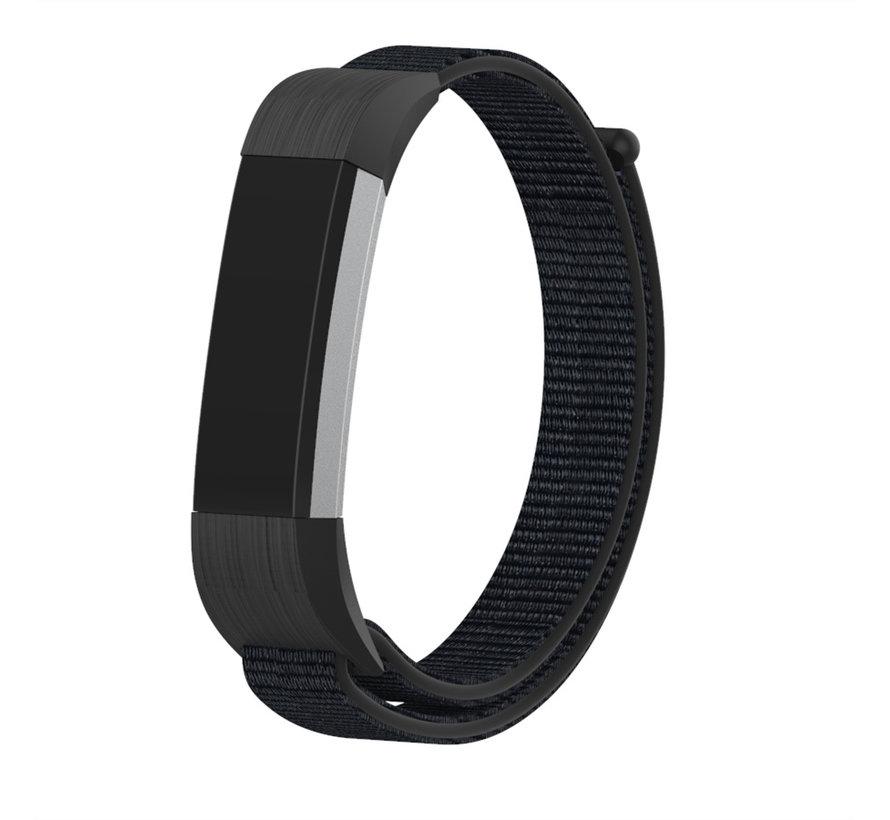 Strap-it® Fitbit Alta / Alta HR nylon bandje (zwart)