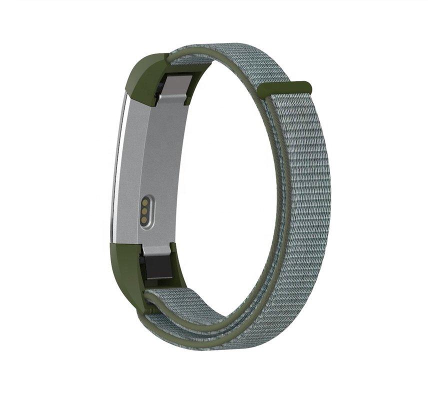 Strap-it® Fitbit Alta / Alta HR nylon bandje (olijfgroen)