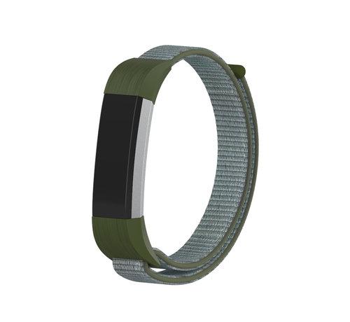 Strap-it® Strap-it® Fitbit Alta / Alta HR nylon bandje (olijfgroen)