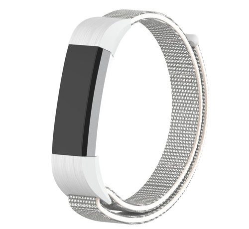 Strap-it® Strap-it® Fitbit Alta / Alta HR nylon bandje (zeeschelp)