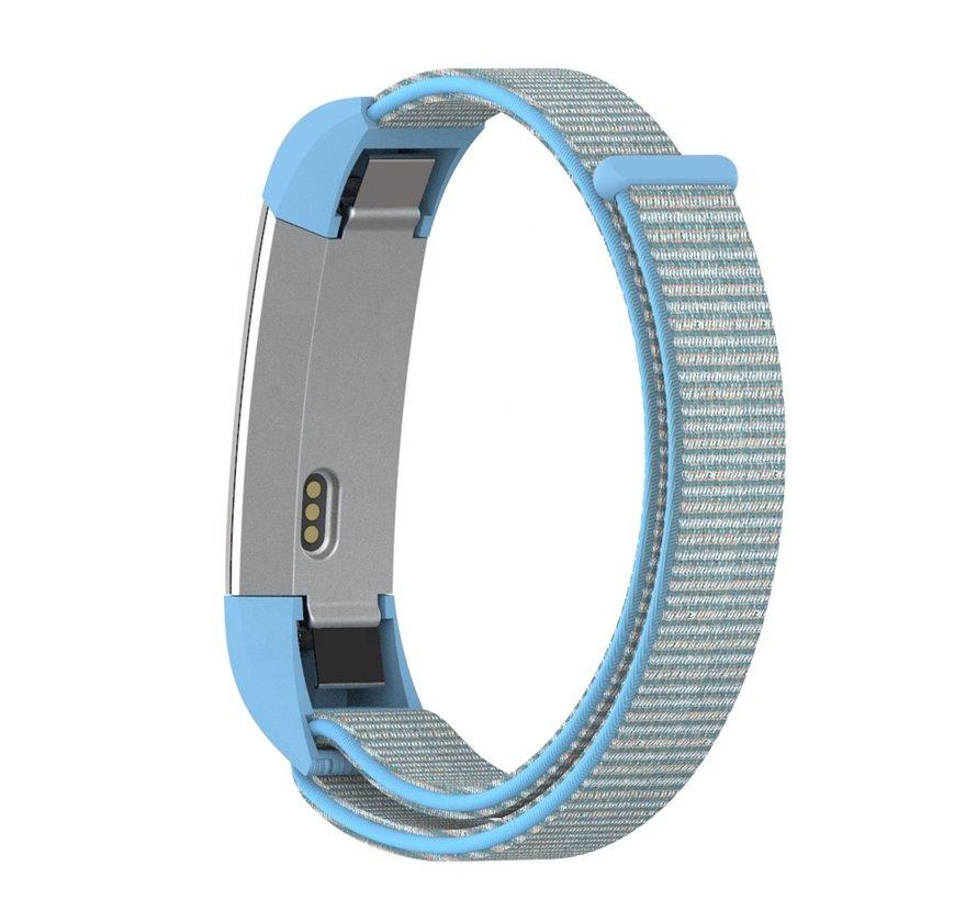 Strap-it® Fitbit Alta / Alta HR nylon bandje (blauw mix)